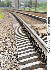 Fragment of the rails.