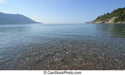 Fragment of the sea coast in Montenegro - Fragment of sea...