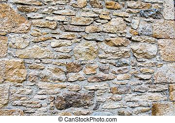 Fragment of the wall masonry