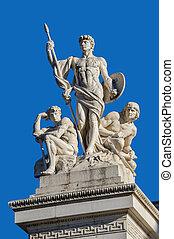 Fragment of Vittorio Emanuele monument II in Rome