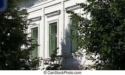 Fragment of white building