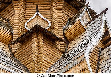 Fragment of wooden church