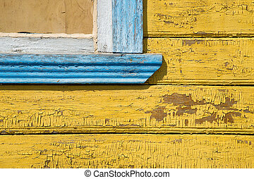 Fragment of wooden wall