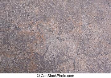 fragment, oud, verweerd, vloer, muur, cement, beton, textuur, barst