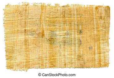 fragment, papyrus, égyptien