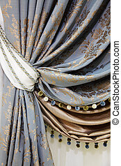 fragment, rideaux, beau
