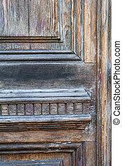 fragment, vieux, porte