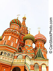 Fragment view of Saint Basil's Cathedral in Moscow, Russia