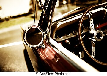 fragment, voiture, retro