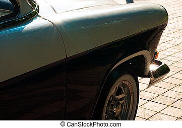 fragment, von, retro, auto