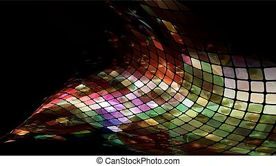 fragmentary - abstract mosaic background illustration, clip...
