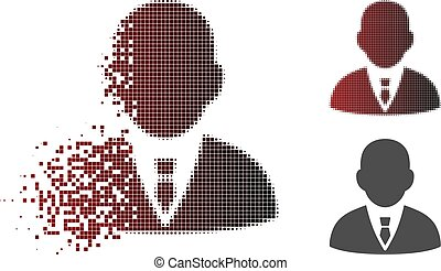 Fragmented Dotted Halftone Boss Icon