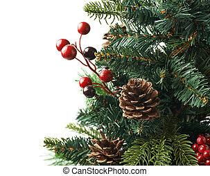 fragmento, árvore, isolado, natal