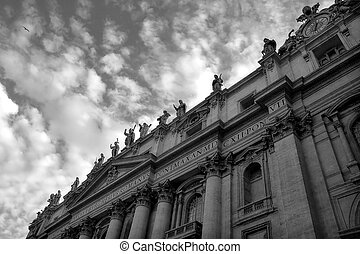 fragmento, basílica, peter, santo, vatican.