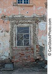 fragmento, casa, abandonado