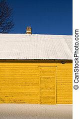 fragmento, casa, inverno, amarela