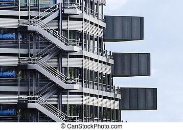 fragmento, de, um, edifício moderno