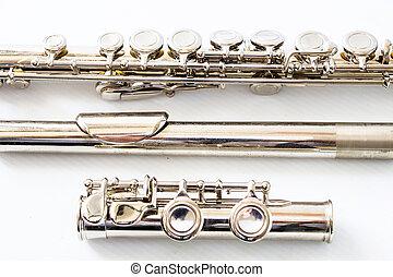 fragmento, de, un, flauta