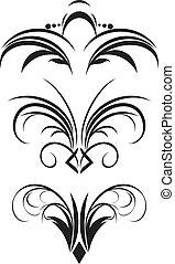 fragmento, gótico, ornamento