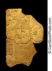 fragmento, pre-colombino, escultura, méxico