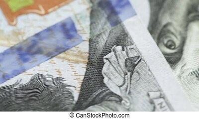 Fragments of dollars - Macro rotating dollars
