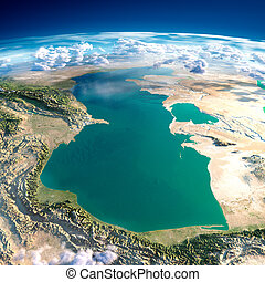 Fragments of the planet Earth. Caspian Sea - Highly detailed...