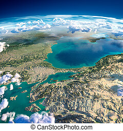Fragments of the planet Earth. Turkey. Sea of Marmara -...