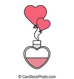 fragrance and balloons helium in shape heart