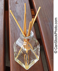 fragrance diffuser with home scent and cedar wood reeds