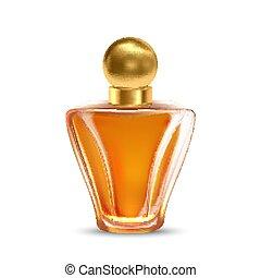 Fragrance Glass Bottle For Aromatic Liquid Vector