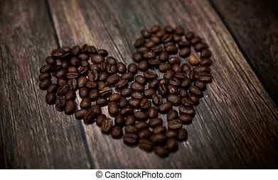 Fragrant coffee heart - Picture presenting fragrant coffee...