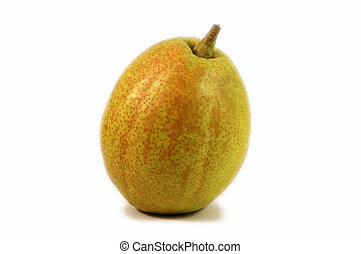 Fragrant pear - Single fragrant pear isolated over white...