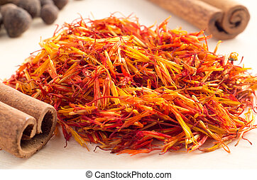 Fragrant saffron close-up