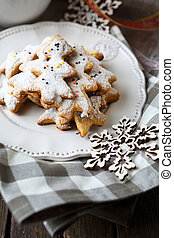 fragrant traditional Christmas gingerbread cookies