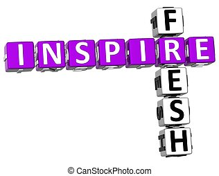 frais, 3d, inspirer, mots croisés