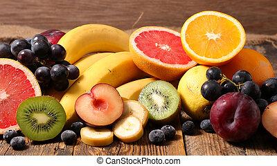 frais, assorti, fruit