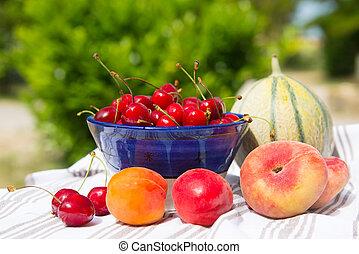frais, assortiment, fruit
