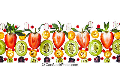 frais, baie, et, fruit