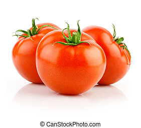 frais, blanc, isolé, tomates rouges