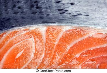 frais, blanc, saumon, fond