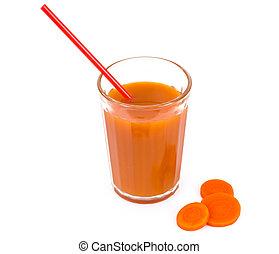 frais, carotte, pulpe, jus