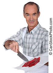 frais, charcutier, viande rouge