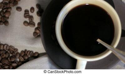 frais, coffee., brassé