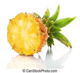 frais, couper, ananas