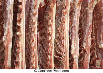 frais, coupure froide, viande, usine