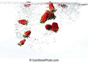 frais, fond, fraise