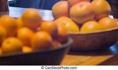 frais, foyer sélectif, oranges