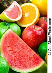 frais, fruits.