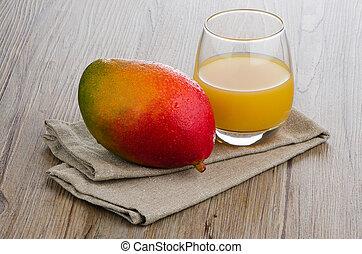 frais, mangue, jus
