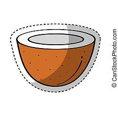 Noix coco dessin vecteur eps rechercher des clip art - Dessin noix de coco ...